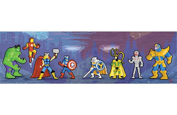 11x17 Pixel Avengers print
