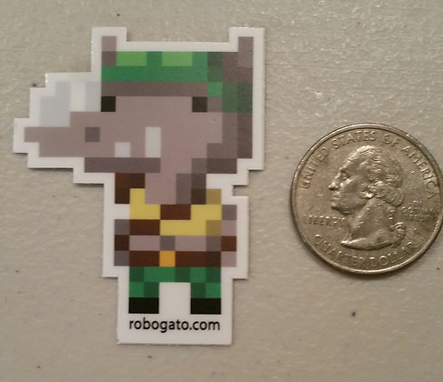 Rhino Pixel Sticker