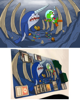 Yoshi and a Narwhal play Magic