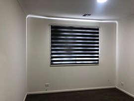 Grey Zebra blinds done by Majestic Curta