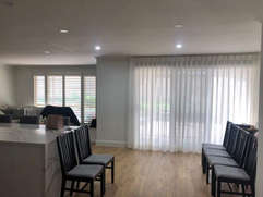 Sheer curtains done by Majestic Curtains