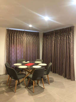 Curtains with plain lining done by Majes