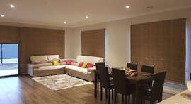 Roman Blinds in Living Area Done by Maje