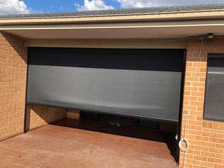 Black Ziptrak Outdoor Blinds done by Maj