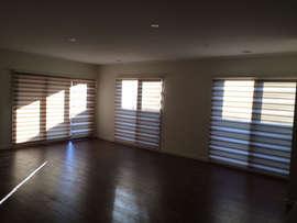 Zebra Blinds in Living Room done by Maje