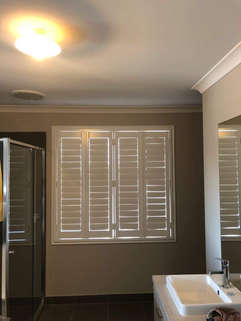 White Plantation Shutters done by Majest