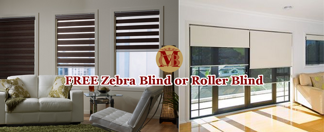 FREE Zebra or Roller Blind For Bedroom window | All type of Curtains ...