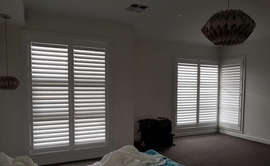 White Basswood Plantation Shutters done