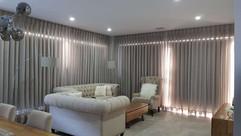 Living room Sheer Curtain and Roller Bli