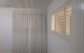Sheer curtains with roller blinds planta