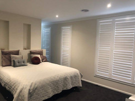 Plantation Shutter in bedroom done by Ma