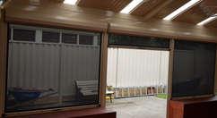 Outdoor Blinds Ziptrak Grey Colour done