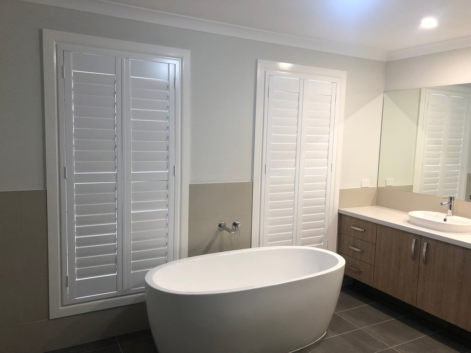 Plantation Shutter In Bathroom And Wc To