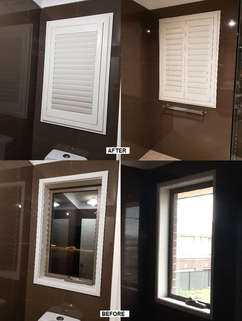PVC Plantation Shutters for Bathroom and