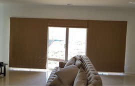 Roman Blinds on Sliding Door Done by Maj
