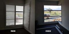 Corner Window Plantation Shutters done b