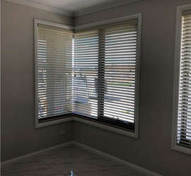 White Venetian Blinds done by Majestic C