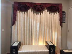 Curtains with swags and tails done by Ma