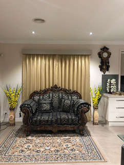 Sheer curtains with Pelmet and Roller Bl