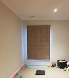 Roman Blinds in Study Room Done by Majes