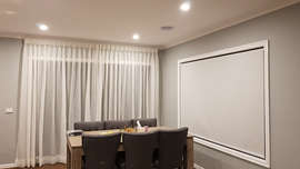 Sheer Curtains with Roller Blinds - Maje