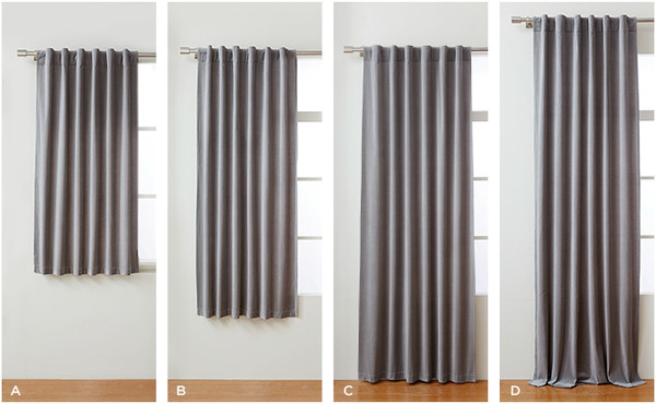 Length of curtains or draperies - Majestic Curtains and Blinds