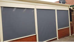 Outdoor Blinds Ziptrak Grey Colour done