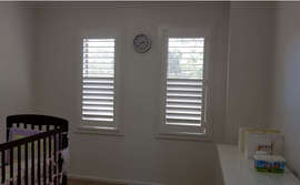 White Plantation Shutters - Majestic Cur