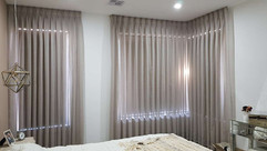 Master Bedroom Sheer Curtain and Roller
