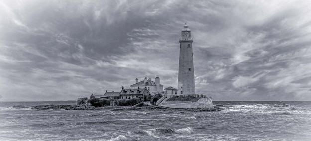 'St Mary's Lighthouse, Whitley Bay' by Jim Tweedie, Ards Camera Club
