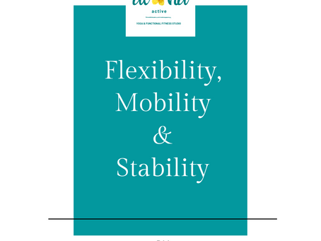 """Flexibility, Mobility & Stability. """"What's the Big Deal?"""""""