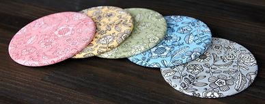 銅板による加飾、名入れ sucera 丸健製陶