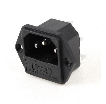 Conector IEC-C14 con portafusible