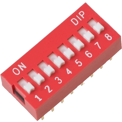 Switch DIP de 8 canales