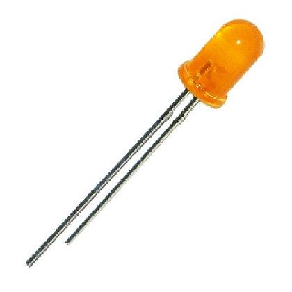 Led Naranja Difuso 5mm