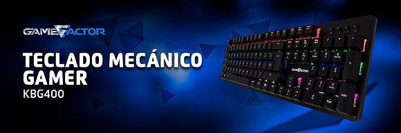Teclado Mecánico Game Factor KBG400 Switch Blue
