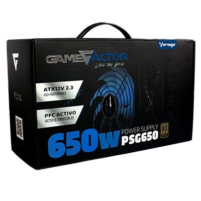 Fuente de poder Game Factor PSG650 80+Bronze 650W