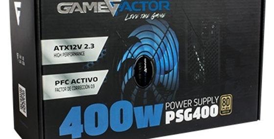 Fuente de poder Game Factor 400w 80+ Bronze