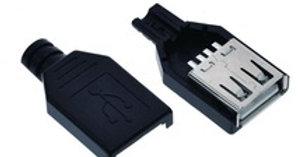 USB Hembra con protector