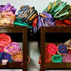 Kantha Silk Blanket
