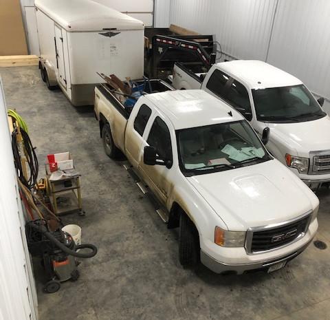 Trucks at the shop