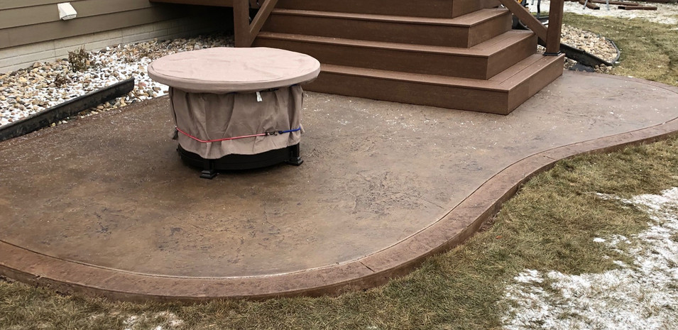 Composite Deck and Stamped Patio
