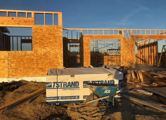 Construction framing in Sioux Falls