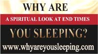 "Where Are We In Light Of God's Spiritual Timeline? New released book – A must read! ""Why Are You Sleeping? A spiritual look at end times."" By Pastor Maryann Berry. Email: faithfirst777@optimum.net. Webpage: www.whyareyousleeping.com."