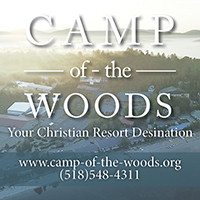 Camp-Of-The-Woods Christian Family Resort and Conference Center. Located in the beautiful Adirondack Mountains. 518-548-4311 ext. 247. Visit online www.camp-of-the-woods.org.