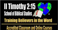 II Timothy 2:15 School Of Biblical Studies. Accredited Bible College – on campus & online courses. John 3:16 Christian Center. Verbank, NY. Phone: (845) 677-0625. Email: 2timothy215@john316cc.org. Webpage: www.john316cc.org.