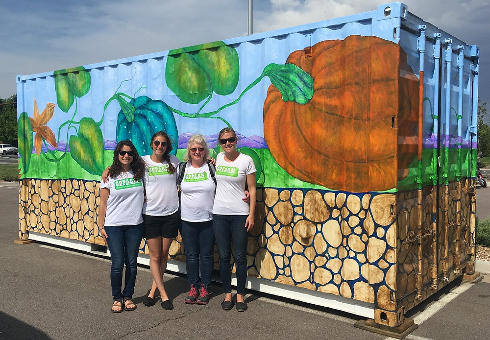 GoFarm staff at the Arvada Container