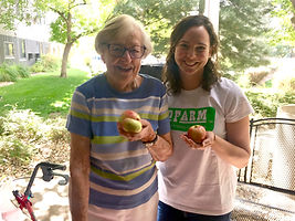 Picking out Apples at Eaton Senior Living Community