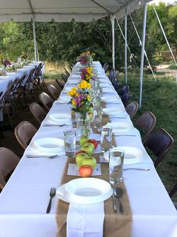 Harvest Dinner Table