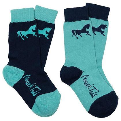 Mark Todd Kids Padded Socks (2 Pack)